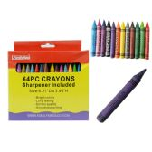 48 Units of 64pc Crayons - CHALK,CHALKBOARDS,CRAYONS