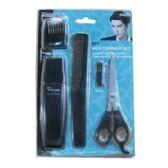 24 Units of 5PC MEN TRIMMER SET - Scissors and Tweezers