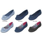 36 Units of GIRLS DENIM BALLET FLATS WITH BOW