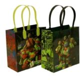 288 Units of SMALL NINJA TURTLE PLASTIC GIFT BAG