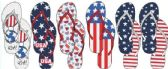 72 Units of AMERICANA INSPIRED FLIP FLOPS - Women's Flip Flops