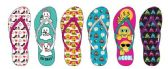 72 Units of EXPRESSION AND ICON PRINTED FLIP FLOPS - Women's Flip Flops
