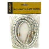 48 Units of 2PC .50 X 48 IN BUNGEE CORD - ROPE/TWIN