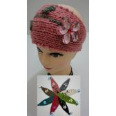 72 Units of Hand Knitted Ear Band [Flower with Lace]