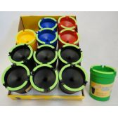 72 Units of Large Butt Bucket with Glow Edges - Ashtrays(Plastic/Glass)