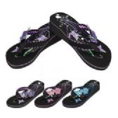 36 Units of Ladies Platform Flip-Flops--Double Butterfly