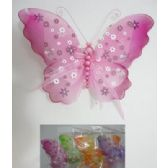 """72 Units of 7""""x9"""" Sheer Clip On Butterfly"""