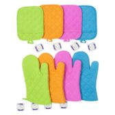 48 Units of Oven Mitt 12in & Potholder 7x9in 4ast Fall Colors Ea W/fall Ht