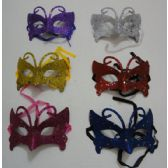 72 Units of Masquerade Mask--Glitter Butterfly - Masks