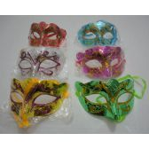 72 Units of Masquerade Mask-Metallic & Glitter - Masks