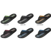 36 Units of BOYS FLIP FLOP WITH STRIPPED FOOTBED - Boys Flip Flops & Sandals