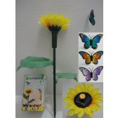 72 Units of Solar Yard Stake with Sunflower [Butterfly] - Garden Decor