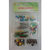 72 Units of Office Assortment [Push Pin/Thumb Tack/Paper Clip] - Clips and Fasteners