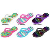 72 Units of GIRLS PCU FLIP FLOPS WITH PHOTO REAL PRINTED FOOTBED - Girls Flip Flops