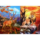 50 Units of 3D Picture 59--Lion on Rock/Axis Deer