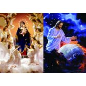 50 Units of 3D Picture 61--Jesus Over Earth/Mary with Angels