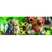 50 Units of 3D Picture 86--Retriever/ Two Kittens