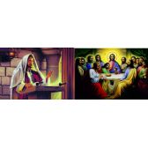 50 Units of 3D Picture 89--The Last Supper/Jesus with Scroll