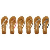 36 Units of GIRLS BRAIDED GLITTER SANDALS WITH PRINTED FOOTBED