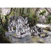 50 Units of 3D Picture 9611--2 White Tigers