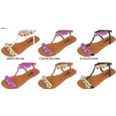 36 Units of GIRLS POM POM SANDALS