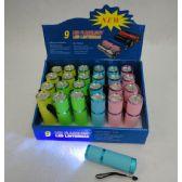 24 Units of 9LED Pastel Flashlight - Flash Lights