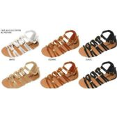 36 Units of GIRLS GLADIATOR SANDAL WITH HARDWARE EMBELLISHMENTS