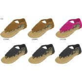 36 Units of GIRLS MICROSUEDE FRINGE SANDAL