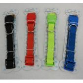 "24 Units of 21"" Nylon Buckled Dog Collar [Solid Color]-Mediu"