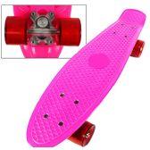 8 Units of Complete Plastic & Metal Skateboards- Pink