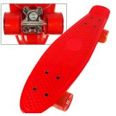 8 Units of Complete Plastic & Metal Skateboards- Red