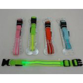 72 Units of Nylon Reflective Light-Up Buckled Collar [Assorted Sizes] - Pet Accessories