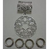 72 Units of Scarf Charm: Filigree Circle - Necklace