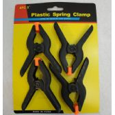 "72 Units of 4 Piece 3"" Plastic Spring Clamps"