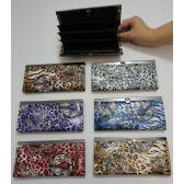 72 Units of Ladies Expandable Wallet [Tiger & Cheetah]