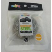72 Units of 1pc 40g Stainless Steel Scourer - Scouring Pads & Sponges