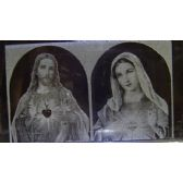 12 Units of 3D Laser Etched Crystal-Jesus and Mary - Etched Crystal Figurines