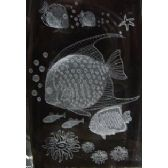 12 Units of 3D Laser Etched Crystal-Tropical Fish