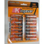 72 Units of 16pk AA Batteries [Kingever]