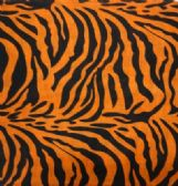 36 Units of Bandana-Orange/Black Zebra Print - Bandanas