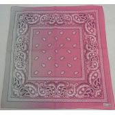 120 Units of Bandana-Pink/Gray Paisley Fade