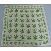 120 Units of Bandana-White/Green Marijuana Leaves