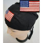 72 Units of Embroidered Skull Cap [Flag]