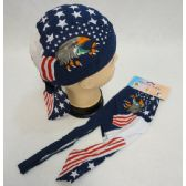 72 Units of Skull Cap-American Eagle with Talons - Bandanas