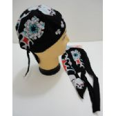 72 Units of Skull Cap-Circle of Skulls with Red Flames