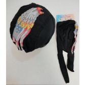 72 Units of Skull Cap-Eagle Head with Torn Flag - Bandanas