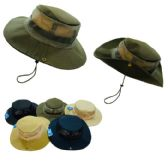 72 Units of Floppy Boonie Hat (Solid Color) Mesh Sides