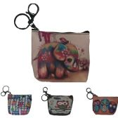 240 Units of PRINT COIN PURSE WITH ZIPPER