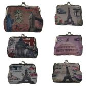240 Units of KISS LOCK COIN PURSE IN ASSORTED PRINTS AND COLORS