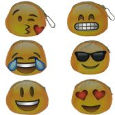 600 Units of COIN PURSES IN EMOJI/ ASSOERTED COLORS & PRINTS